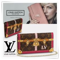 Louis Vuitton Monogram Blended Fabrics 2WAY Chain Leather Elegant Style