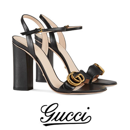 c1bb8ec1382ee GUCCI 2018-19AW Studded Plain Leather Pin Heels With Jewels Elegant Style  by NovateurBoutique - BUYMA