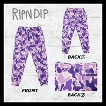 RIPNDIP Printed Pants Camouflage Unisex Street Style