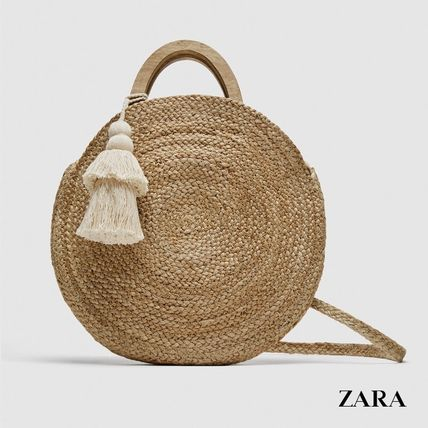 Casual Style 2WAY Plain Straw Bags