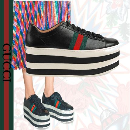 262212155f7 GUCCI 2018 SS Leather Low-Top Sneakers by GattoM - BUYMA