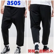 ASOS Tapered Pants Street Style Plain Cotton Tapered Pants