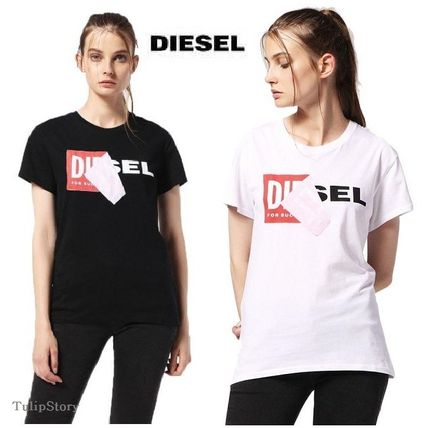 Crew Neck Casual Style Street Style Cotton Short Sleeves