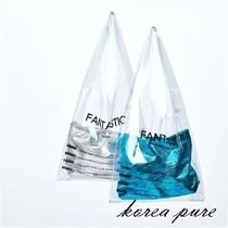 Casual Style Crystal Clear Bags PVC Clothing Handbags