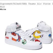 Supreme Blended Fabrics Street Style Collaboration Plain Sneakers