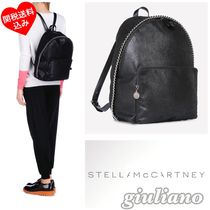 Stella McCartney FALABELLA Casual Style Unisex Chain Plain Backpacks