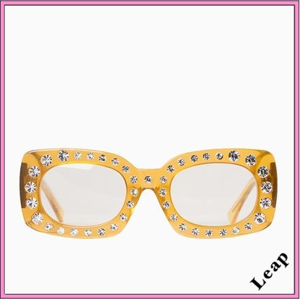 Unisex Studded Square With Jewels Sunglasses