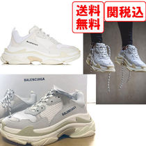 BALENCIAGA Triple S Suede Street Style Plain Sneakers