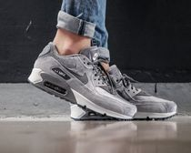 Nike AIR MAX 90 Round Toe Rubber Sole Casual Style Unisex Street Style Plain