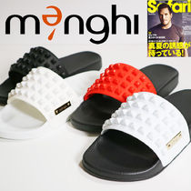 menghi Street Style Plain Shower Shoes PVC Clothing Shower Sandals