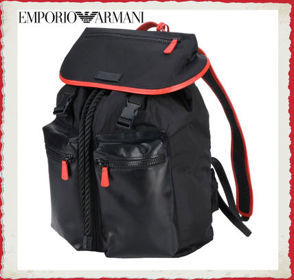 ... EMPORIO ARMANI Backpacks Nylon Blended Fabrics A4 Plain Backpacks ... dda9b08843