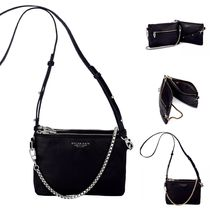 Dylan Kain Street Style 2WAY Chain Plain Leather Shoulder Bags