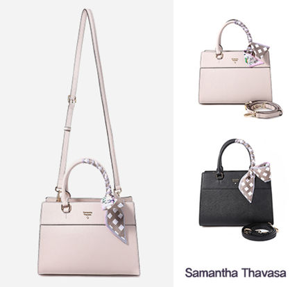1d6254d3f3 ... Samantha Thavasa Totes Street Style Leather Office Style Totes ...