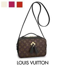 Louis Vuitton Monogram Blended Fabrics Tassel 2WAY Leather Elegant Style