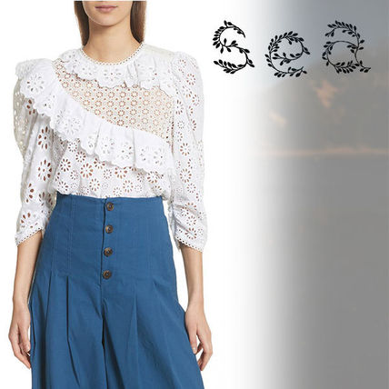 Casual Style Cropped Cotton Shirts & Blouses