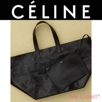 CELINE Street Style A4 2WAY Plain Leather Oversized Elegant Style