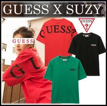 Guess Unisex Street Style T-Shirts