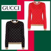 GUCCI Long Sleeves Cotton Medium Sweaters