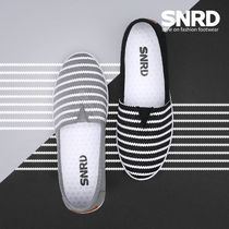 paperplanes Stripes Round Toe Rubber Sole Casual Style Slip-On Shoes