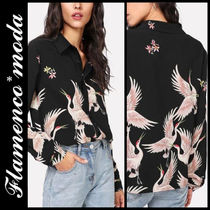 Casual Style Long Sleeves Other Animal Patterns Long