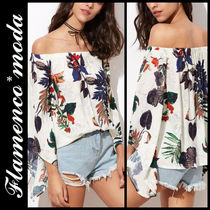 Tropical Patterns Casual Style Long Sleeves Long