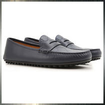 GUCCI Monogram Loafers Leather Loafers & Slip-ons