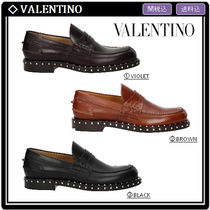 VALENTINO Loafers Studded Leather Loafers & Slip-ons