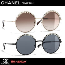 CHANEL Round With Jewels Sunglasses