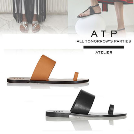 Casual Style Leather Sandals