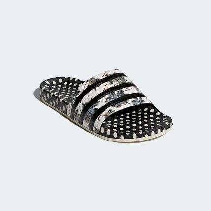 46b3c240831825 ... adidas Flat Flower Patterns Dots Open Toe Casual Style Unisex 5 ...