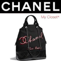 CHANEL ICON Other Check Patterns Calfskin Street Style A4 2WAY Chain