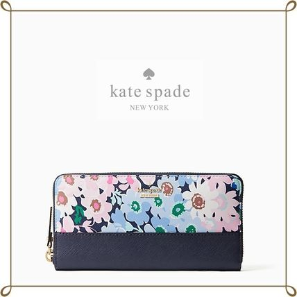 Flower Patterns Long Wallets