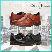 Cole Haan Plain Toe Monk Plain Leather Loafers & Slip-ons