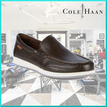 Cole Haan Plain Leather U Tips Loafers & Slip-ons