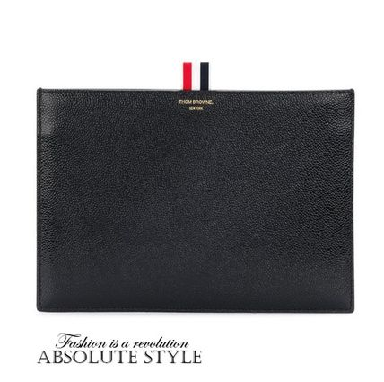 Bi-color Leather Clutches