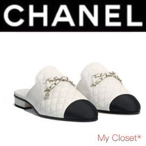 CHANEL MATELASSE Other Check Patterns Blended Fabrics Street Style Chain