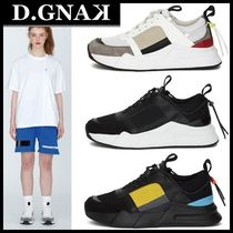 DBYDGNAK Lace-up Casual Style Unisex Street Style Low-Top Sneakers