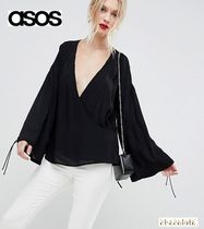 ASOS Casual Style Plain Oversized Puff Sleeves Shirts & Blouses