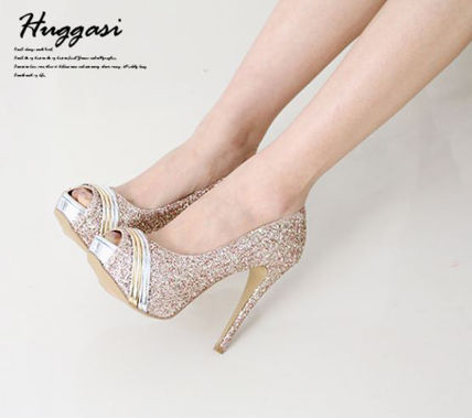 Peep Toe Open Toe Handmade Party Style With Jewels