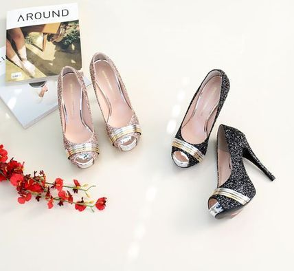 Peep Toe Open Toe Handmade Party Style With Jewels 2