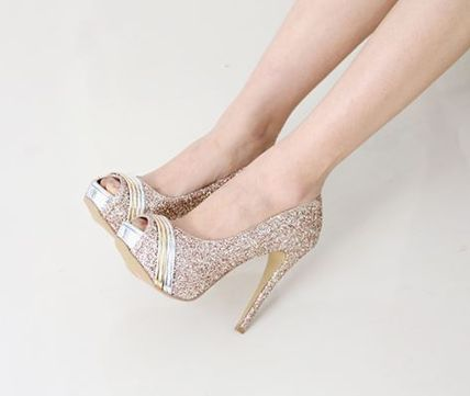 Peep Toe Open Toe Handmade Party Style With Jewels 5