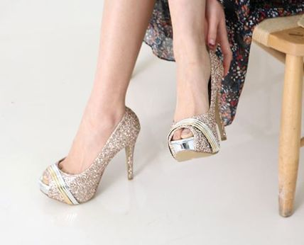 Peep Toe Open Toe Handmade Party Style With Jewels 6