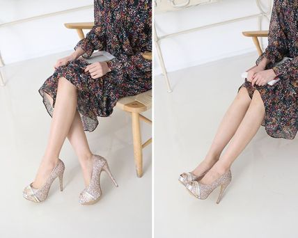 Peep Toe Open Toe Handmade Party Style With Jewels 7