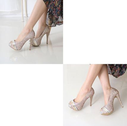 Peep Toe Open Toe Handmade Party Style With Jewels 8