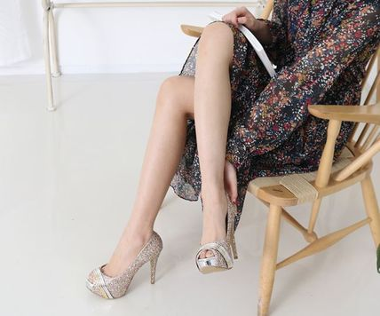 Peep Toe Open Toe Handmade Party Style With Jewels 9
