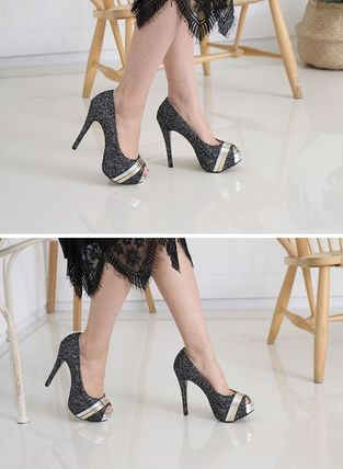 Peep Toe Open Toe Handmade Party Style With Jewels 11