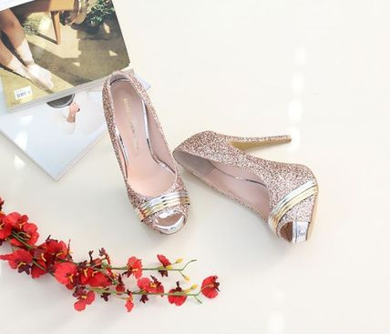 Peep Toe Open Toe Handmade Party Style With Jewels 15
