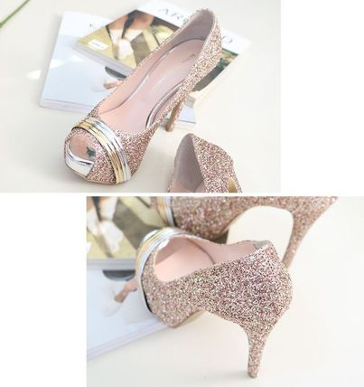 Peep Toe Open Toe Handmade Party Style With Jewels 16