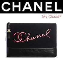 CHANEL ICON Calfskin Street Style A4 Plain Oversized Elegant Style