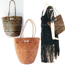 Ron Herman Casual Style A4 Plain Tribal Straw Bags
